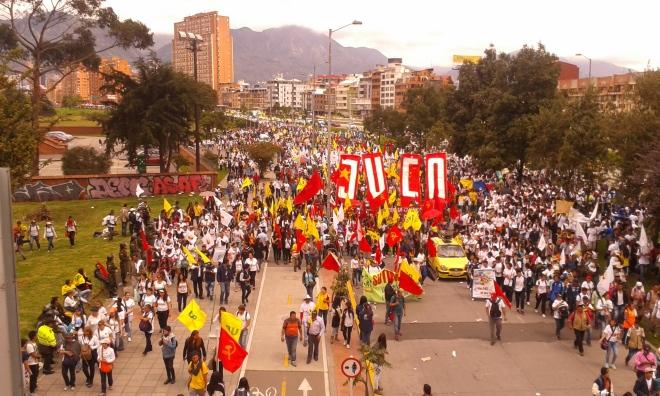 Manifestazione per la pace, Bogotá