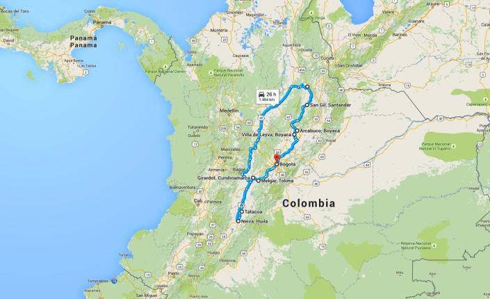 Viaggio Bogota Bucaramanga Neiva